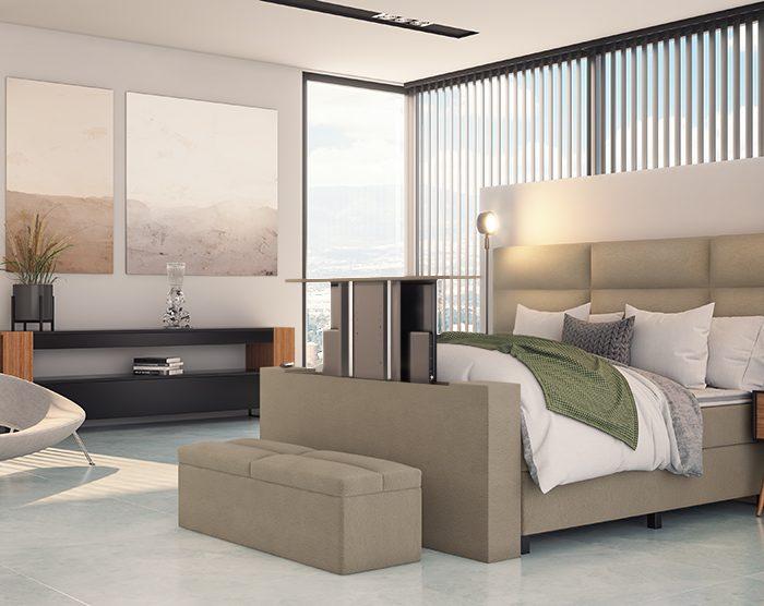 Handerson Quara bed met tv lift