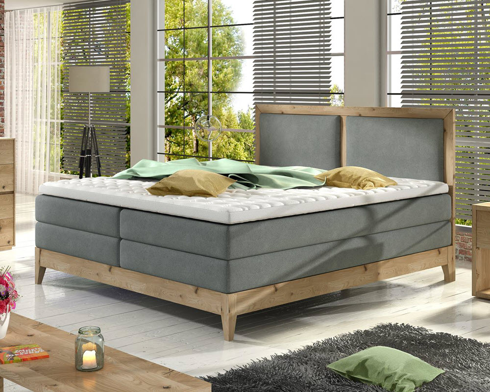 Massief houten boxspring bed Händerson Belize