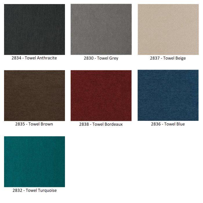 towel kleuren boxspring