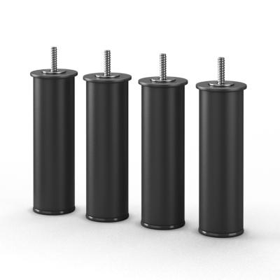 zwarte ronde bedpoot staal 20 cm