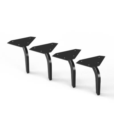 luxueuze dunne metalen bedpoot 10,5 zwart